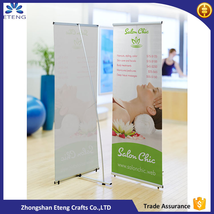 Aluminum roller banners display free standing banners for trade shows