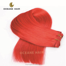 No shedding no tangle high quality soft good thick 3 bundles red brazilian hair weave