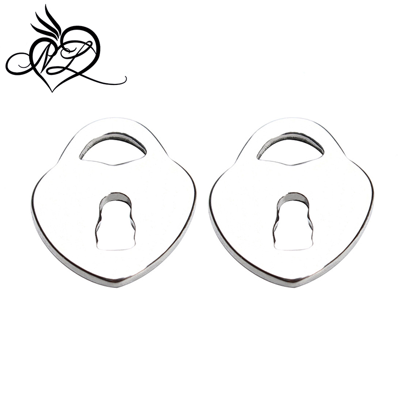 <strong>Beautiful</strong> design heart lock charms stainless steel pendant for necklace making