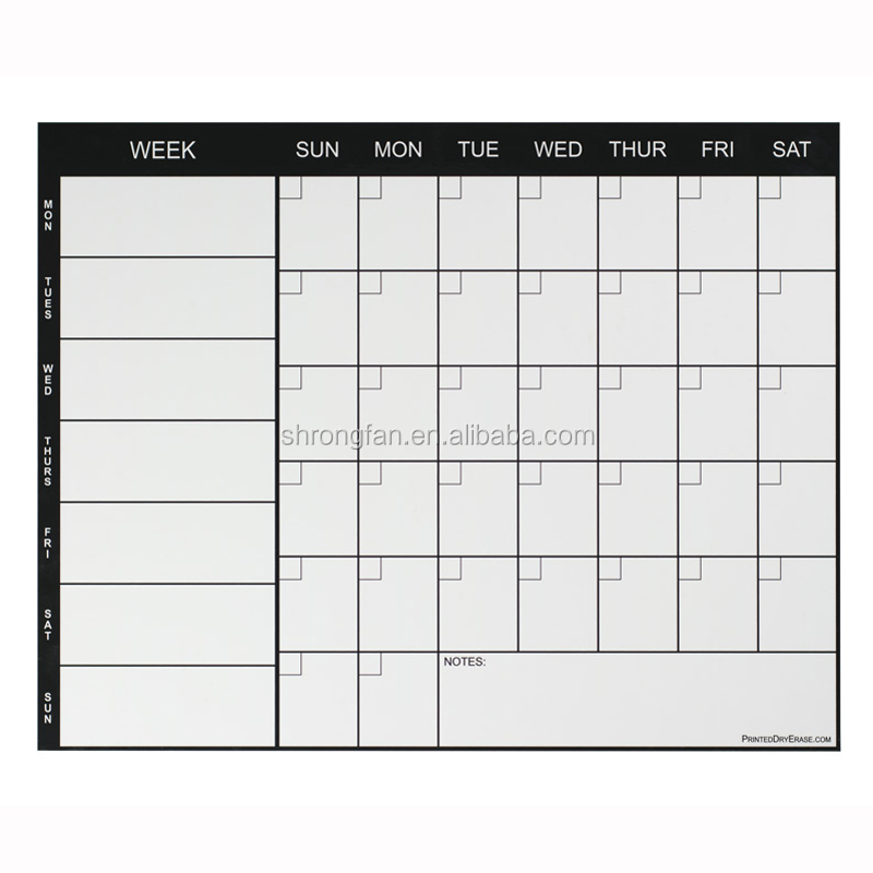 Personalized Top Popular Weekly Calendar Magnet Dry Erase Calendars