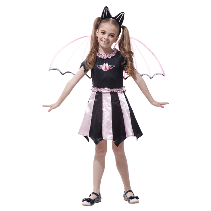 Low MOQ Fancy Dress Cosplay With Wing Costumes Halloween Costumes For Kids Girls