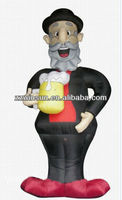 Cartoon inflatable Holland Abraham balloon with beer cup