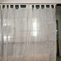 embroidered voile tab top voile embroidery curtain