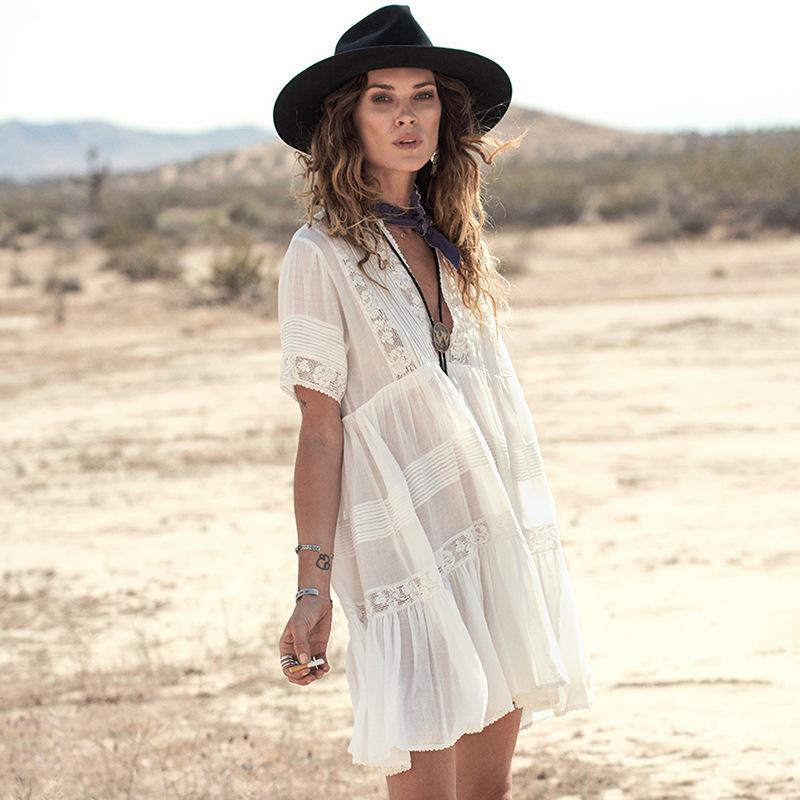 White Bohemian Summer Dresses