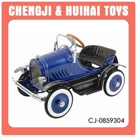 antique looking ride on car metal pedal car