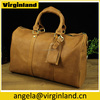 Custom Design Wholesale Full Grain Leather Travel Duffle Bags