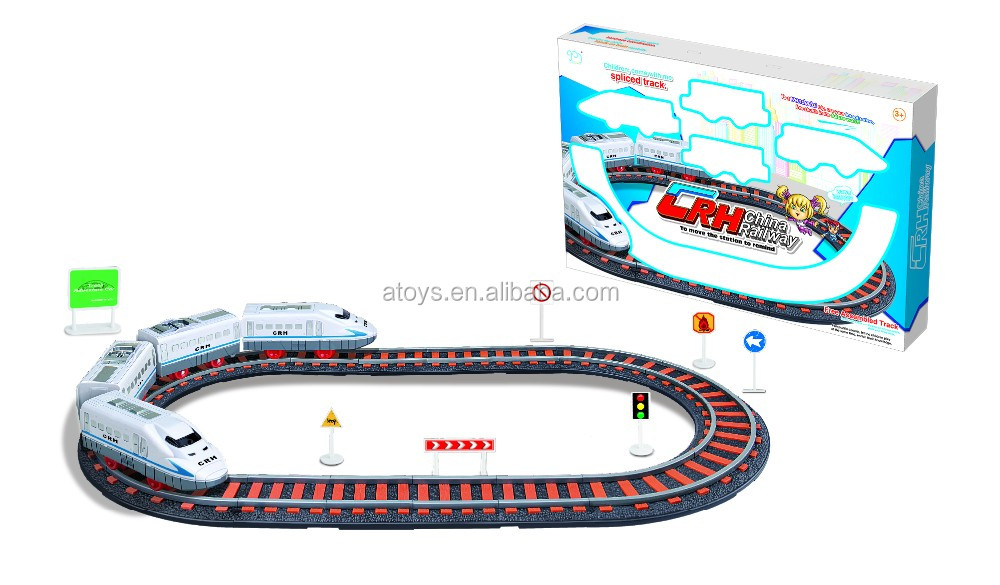 track car toys for kids electric slot car racing track set for boys track car with