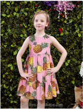 newest fashion korean style wholesale summer fruit printing beauty teenager party frock names with pictures baby girls dress