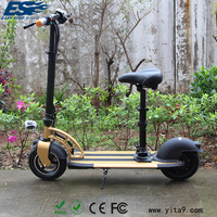 High quality gold 2 wheel electric moped bike