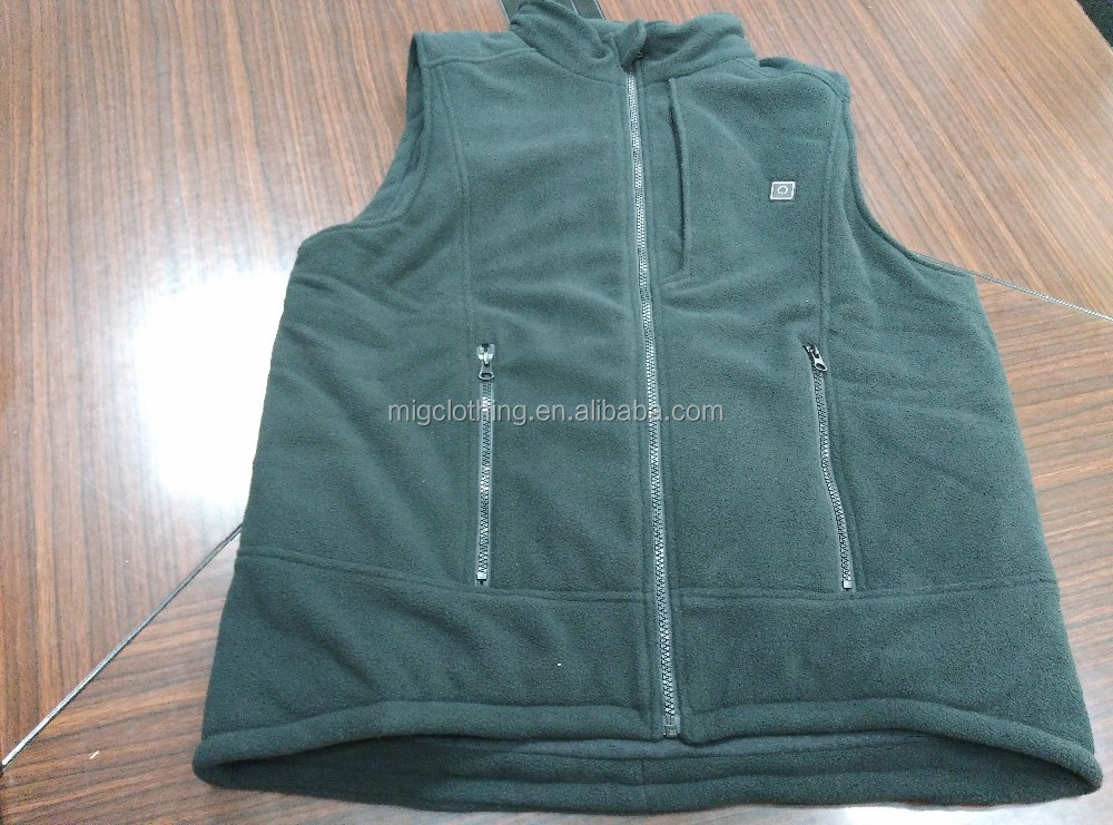 Battery Heated Electric Vest Waterproof Breathable Customized