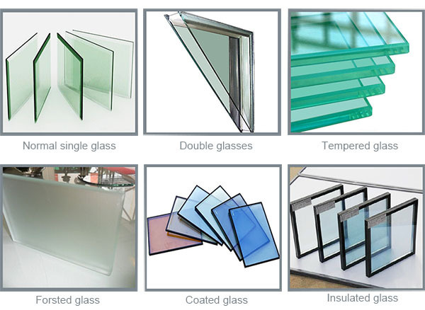Cheap Price Single Pane Aluminium Sliding Window Colored