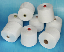 42/2 semi-dull raw white 100% polyester yarn for sewing thread