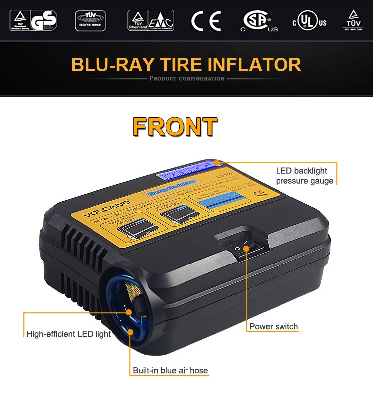 Hot Sale Vehicle air conditioning system DC 12V Digital Car tire air compressor Excellent for carry out