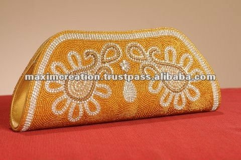 handmade bead embroidery handbag