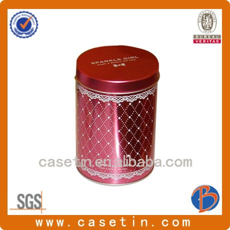 high quality custom packing small round metal tin box for collection