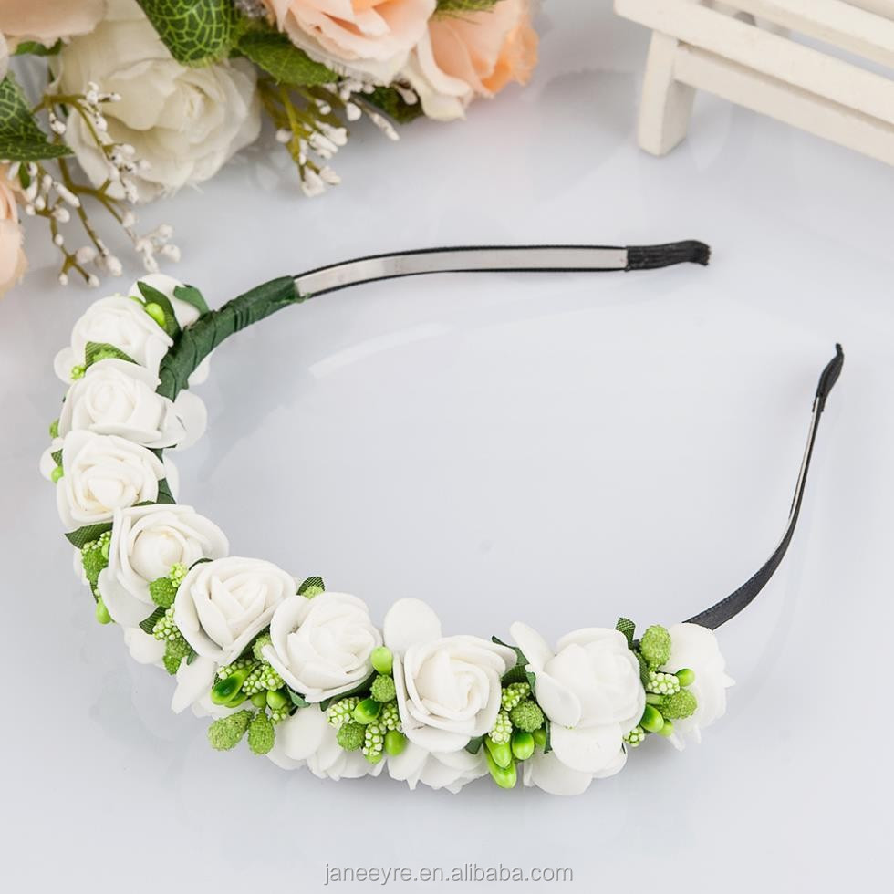 Wholesale firming crowns online buy best firming crowns from china wholesale alibaba wedding hairband festival artificial flower headband flower izmirmasajfo