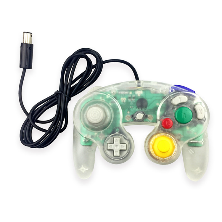 Transparent colorful wired <strong>controller</strong> for NGC Joystick Gamepad