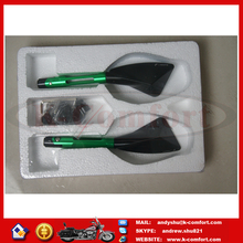 C046 GREEN BLACK HIGH QUALITY CNC MOTORCYCLE MIRROR FOR SALE, MOTORCYCLE PARTS