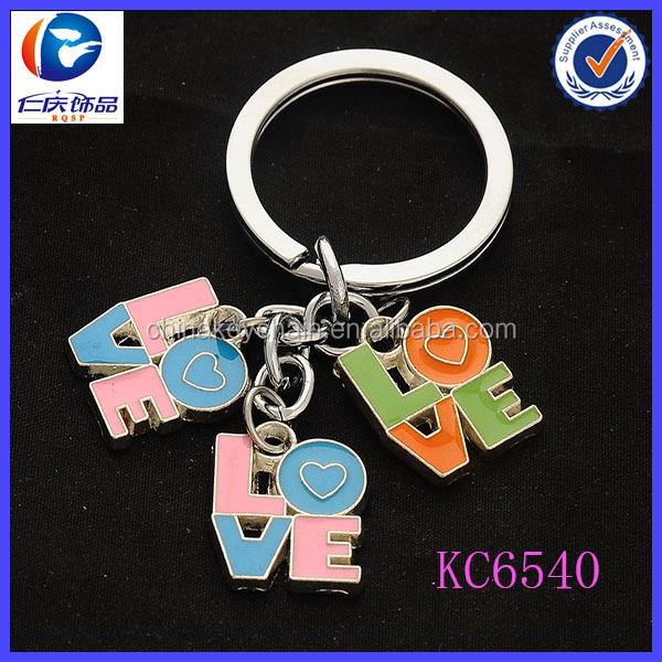 Promotional gift valentine wedding love souvenirs key chain
