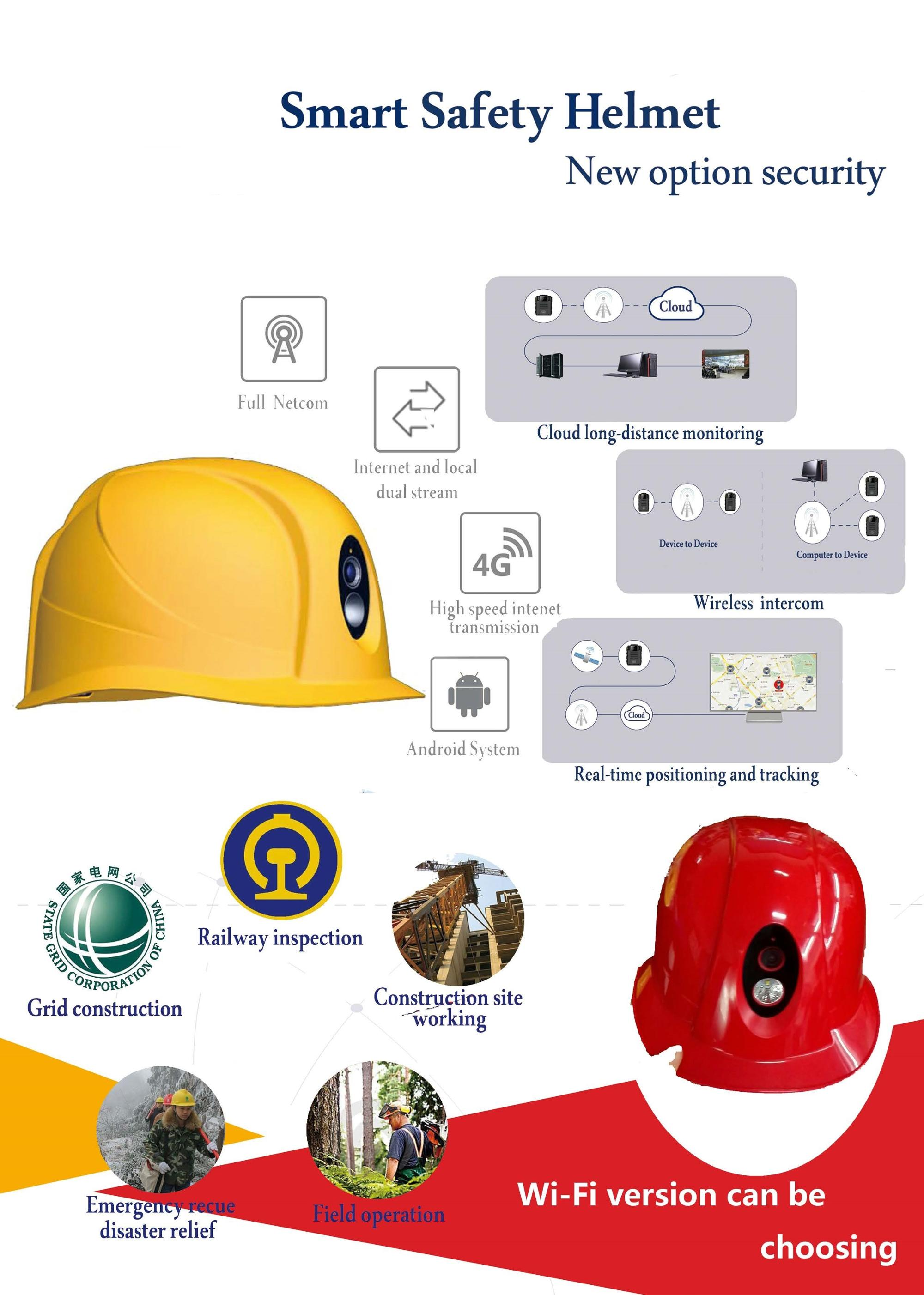 WIFI safety helmet with camera waterproof & shockproof
