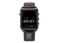 Bluetooth smart watch with Steel leather straps for ios android phones