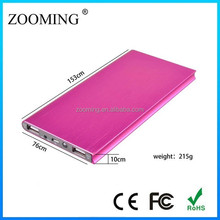aluminum alloy wire drawing of high quality mobile power supply,utra slim power bank 8000mah