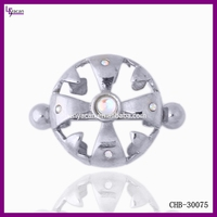 Wholesale Body Jewelry 14G Steel Vibrating Nipple Piercing Jewelry