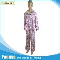 Fully Stocked fashion sexy sleepwear funny100% cotton flannel women pajamas
