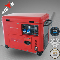 Bison China Zhejiang Air cooled Electric House Super Silent Oil Power Diesel Dorman Generators