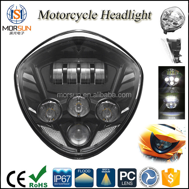 motorcycle driving headlight hi lo 12v led motorcycle led headlight conversion kit
