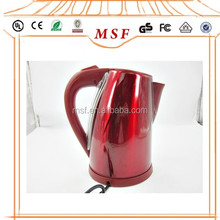 Wide mouth stainless steel electric kettle, cordless stainless steel purple kettle flat cover/lid