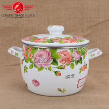 Double Handles Stockpot ,porcelain enamel cassrole / cookware with lid