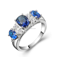 Gemnel jewelry best selling fashion 3 stone diamond ring designs