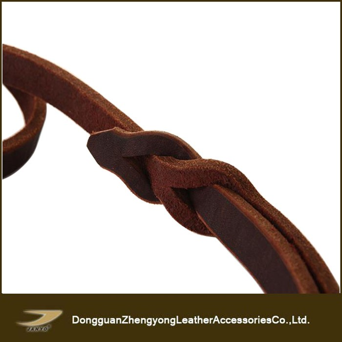 Popular top quality pet accessories natural leather dog leash