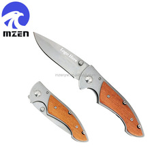 4-Inch Closed Stainless Steel Wood Handle Promo Gift Huntting Knife
