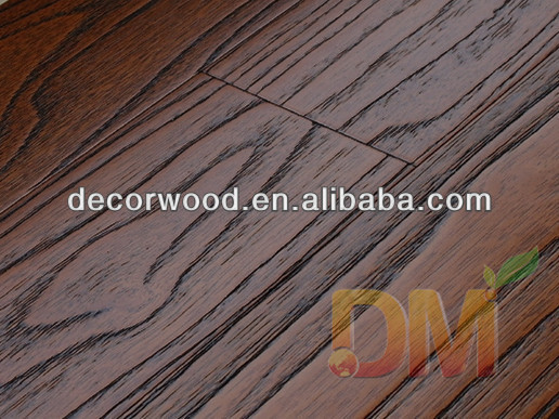 Popular Solid Wire Brushed hardwood asian teak wood flooring