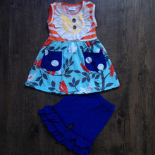 girls sweet boutique wholesale factory direct sale clothing set baby casual cartoon outfit 2 piece