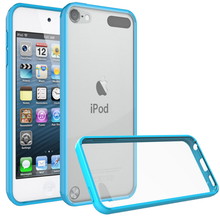 HD clear anti-scratch Acrylic back hybrid TPU case for iPod touch 5 6