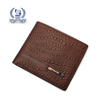 Ostrich leather bifold wallet for men