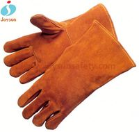 Hot!Reinforced athletic works weight lifting gloves fireproof welding gloves