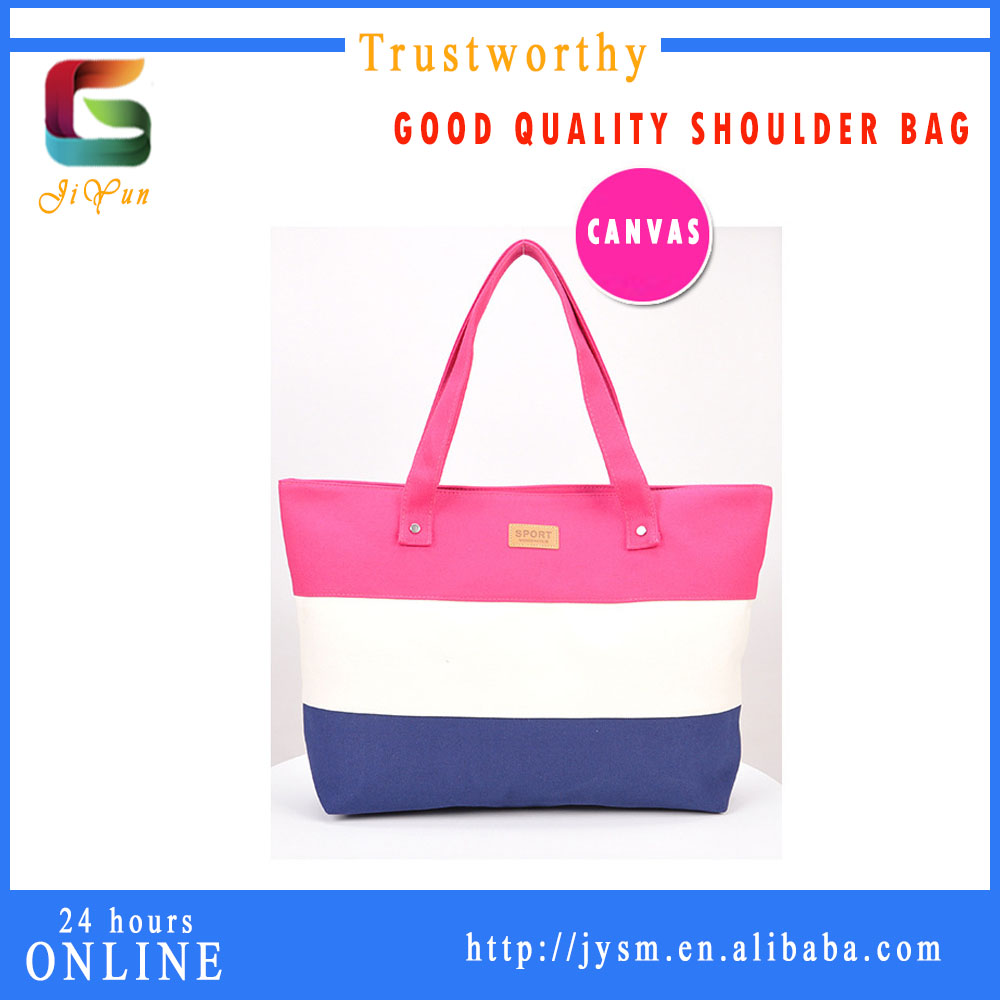 India Best Sale Women Handbag Tote Bag Pink Colorful Canvas Bag Manufacturer High Quality Custom Fashion Shoulder Bag