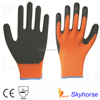 13G Polyester Shell Foam Latex knitted hand gloves