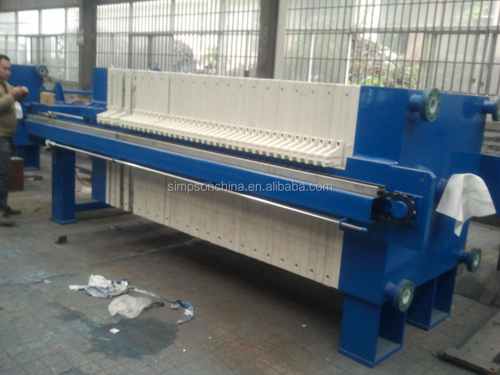 Automatic Membrane Chamber Filter Press for industrial Sewage treatment