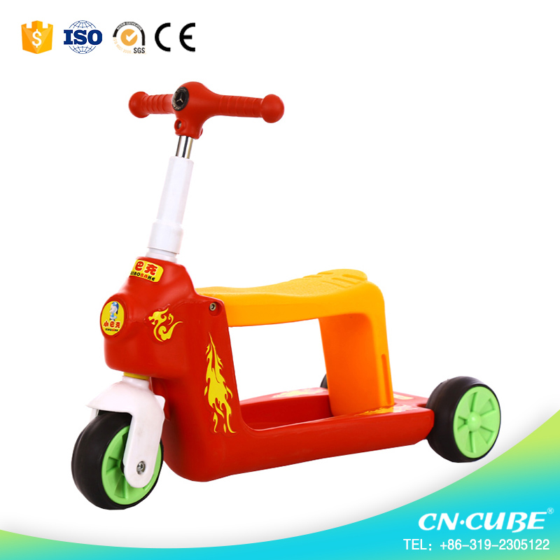 3in1 4in1 5in1 teenagers flashing PU wheels 2016 height adjustable kick scooter best-selling children foot scooter