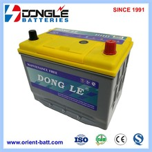 MF75D26L 12V 65Ah Professional Automotive Battery Without Charger