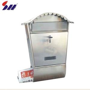 New design waterproof outdoor metal locking mailbox for apartment