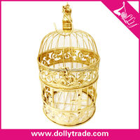 wholesale high quality gold matel birds cage house