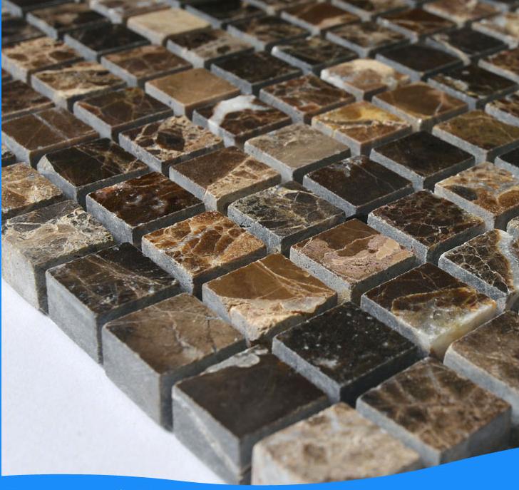 Scuro pavimenti in marmo materiale marrone mattonelle di for Materiale per mattonelle