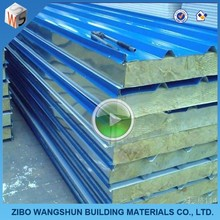 heat insulation materials 100mm rockwool sandwich roofing <strong>panel</strong>