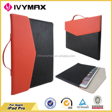 fashion design protective tablet case for I pad pro PU leather case